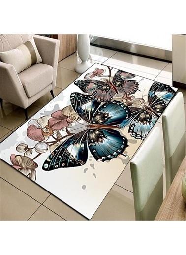 Halı Kelebekler 3D Modern Dekoratif 3D Salon Halıları 80X150Cm Renkli